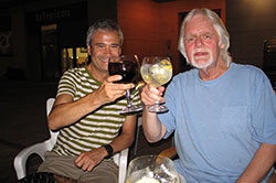 With my good friend, Juan Soroeta, Professor of International Law at The University of The Basque Country, post-dinner drink, 31st Aug, 2013