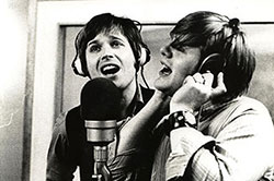 With Richard Barnes, Regent Sound Studio A, c1967