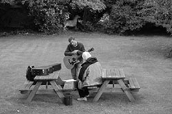 Tutoring on a LSC songwriting course, Ashburton, Devon, Aug 2011